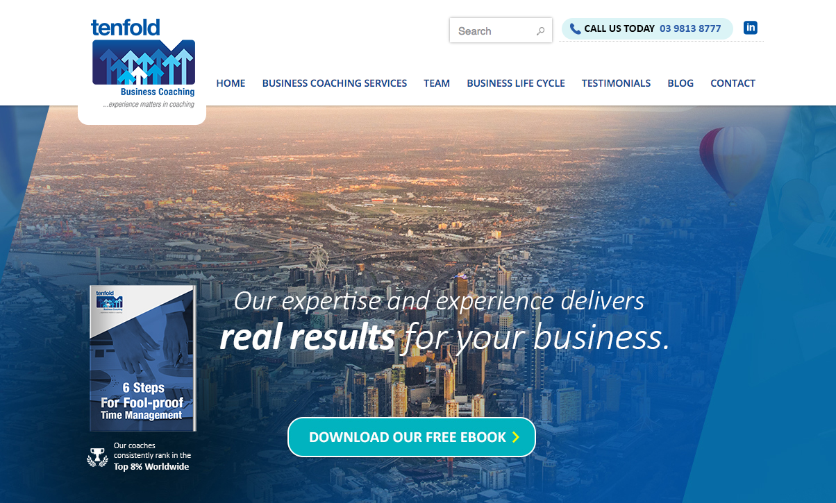 real estate coaching website design