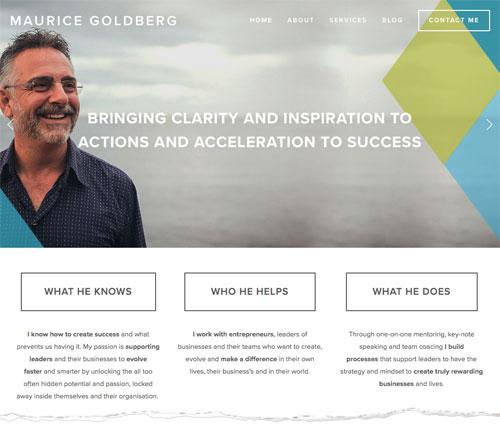 business coach website design
